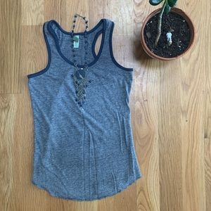 Alternative Apparel Heathered Gray Racerback